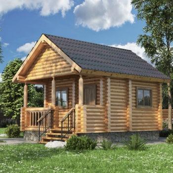 Дом из оцилиндрованного бревна ОБД-002