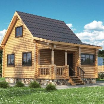 Дом из оцилиндрованного бревна ОБД-003